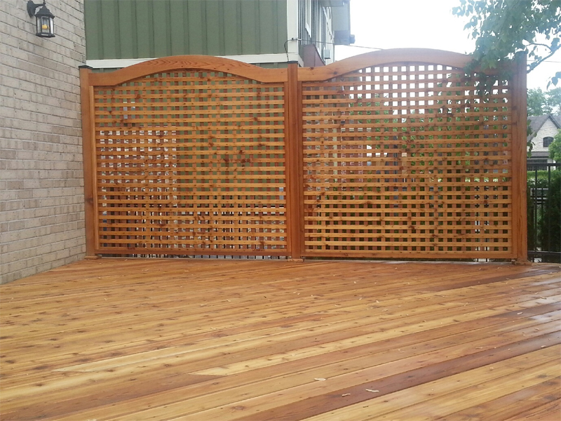 Residential fencing design gallery in toronto total for How to build a lattice screen fence