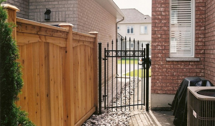 residential iron ornamental fence gate