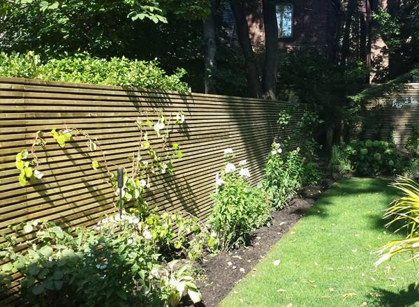 Garden residential fencing