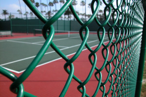 chain-link fence for tennis courts