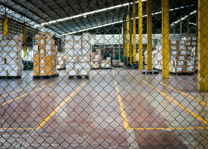 Chain link fencing for warehouse security and