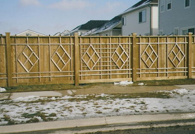 commercial wood fence designs