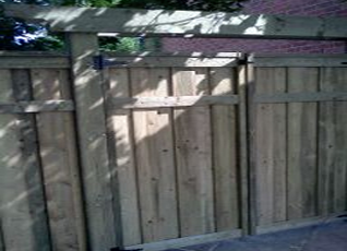 residential wood textured fence