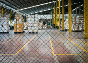 warehouse security fence