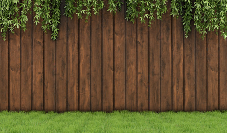 easiest way to stain a fence