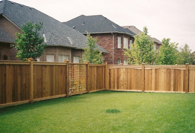 residential wood fence